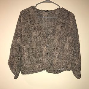 Zara Small Cheetah/Leopard Blouse